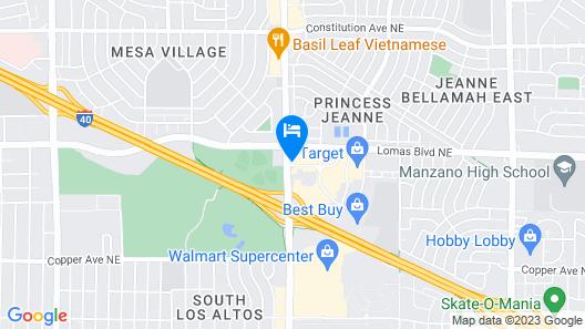 Days Inn by Wyndham East Albuquerque Map