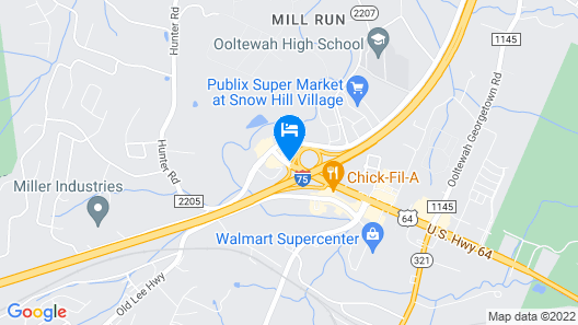 Holiday Inn Express Hotel Ooltewah Springs-Chattanooga Map