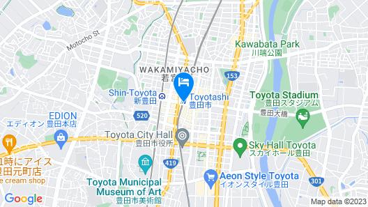 At Inn Hotel Toyotashi station Map