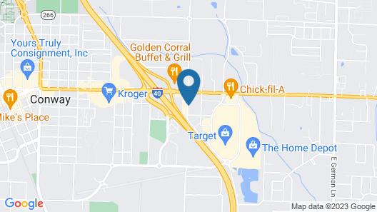 Motel 6 Conway, AR Map