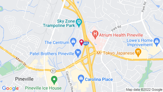 Comfort Suites Pineville - Ballantyne Area Map