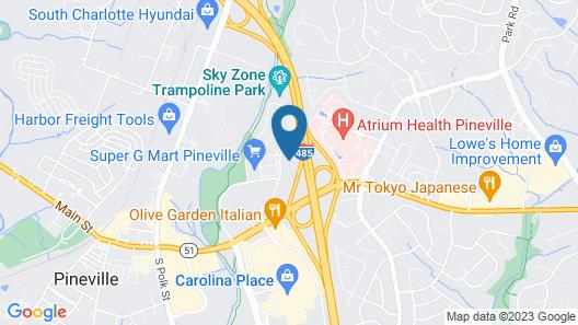 Comfort Suites Pineville - Ballantyne Area Map