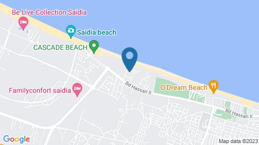 Villa pied dans L eau Saidia Map