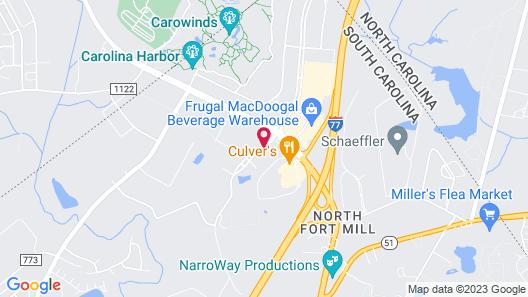 Sleep Inn Fort Mill near Carowinds Blvd Map