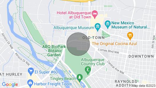 Old Town Plaza + Rio Grande River Casita Map