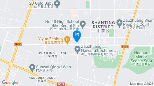 GreenTree Inn Zaozhuang Shanting Jinke International Business Hotel Map