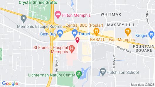 Hyatt Place Memphis Primacy Park Map