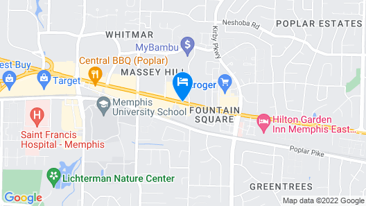 Extended Stay America - Memphis - Germantown Map