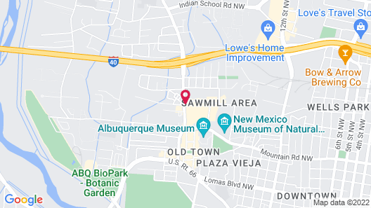 Hotel Albuquerque at Old Town Map