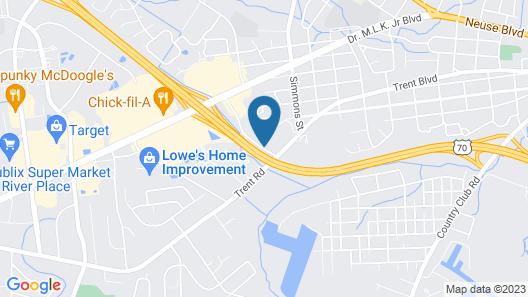 Hampton Inn New Bern Map
