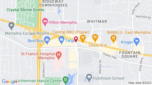Sonesta ES Suites Memphis Map
