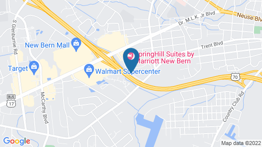 Springhill Suites by Marriott New Bern Map