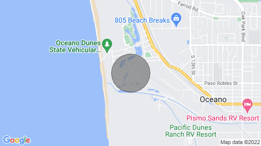 Modern Cottage W/large Yard, Patio & Firepit -near Beach, 2 Dogs OK Map