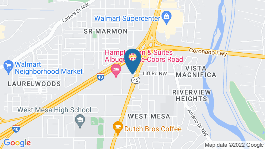 Super 8 by Wyndham Albuquerque West/Coors Blvd Map