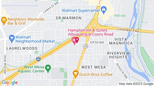 Hampton Inn & Suites Albuquerque-Coors Road Map