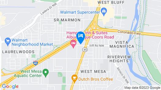 Motel 6 Albuquerque, NM - Coors Road Map