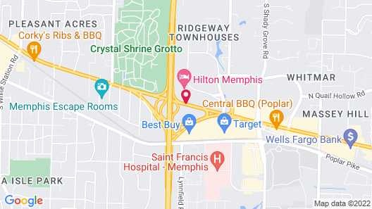 Homewood Suites Memphis East Map