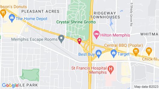 Marriott Memphis East Map