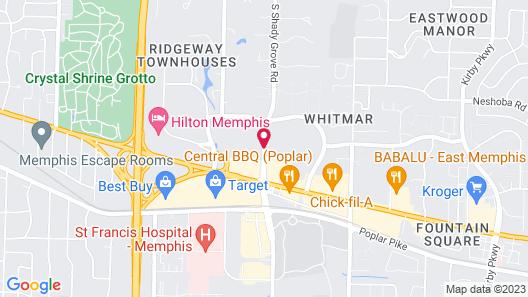Embassy Suites Memphis Map
