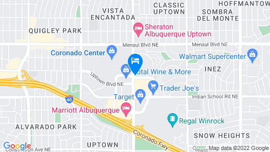 Hyatt Place Albuquerque/Uptown Map