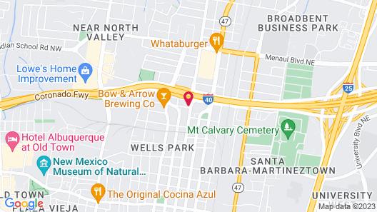 Comfort Inn & Suites Albuquerque Downtown Map