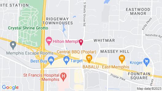 Hampton Inn & Suites Memphis-Shady Grove Map