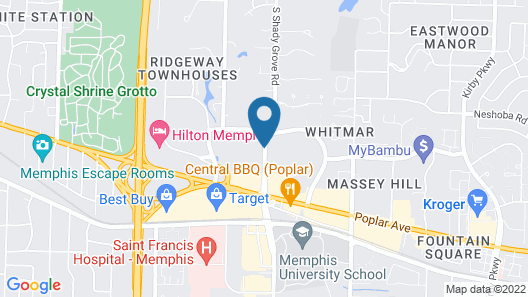 Hampton Inn & Suites Memphis-Shady Grove Map