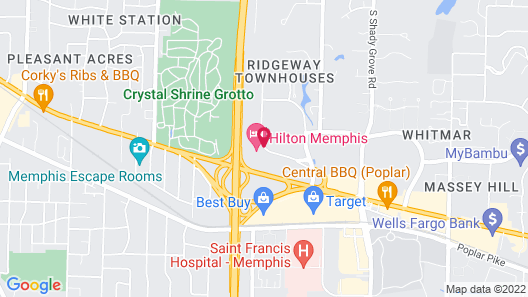 Staybridge Suites Memphis - Poplar Ave East Map