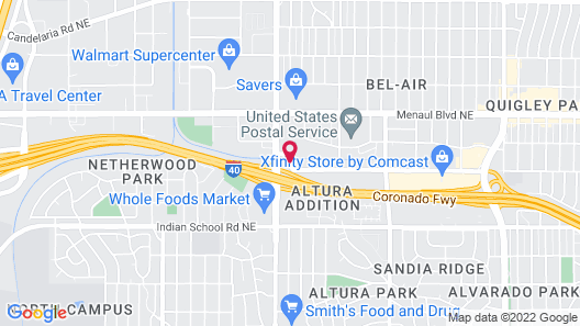 Hampton Inn Albuquerque-University/Midtown Map