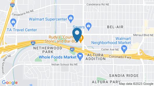 Motel 6 Albuquerque, NM - Carlisle Map