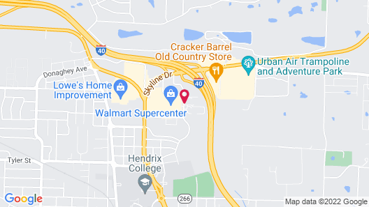 Candlewood Suites Conway Map