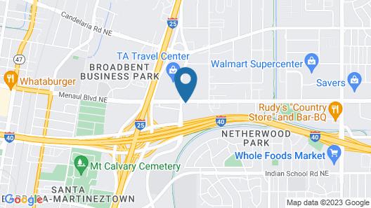 Ramada Plaza by Wyndham Albuquerque Midtown Map