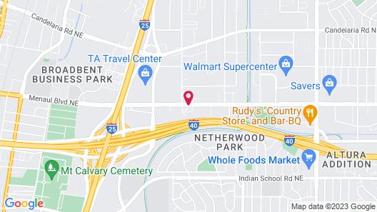 Extend A Suites Midtown Albuquerque Map
