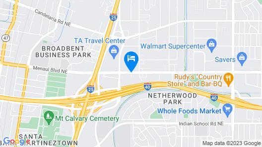 La Quinta Inn & Suites by Wyndham Albuquerque Midtown Map