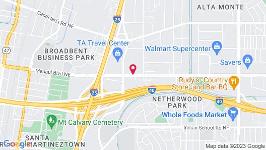 Red Roof Inn Albuquerque– Midtown Map