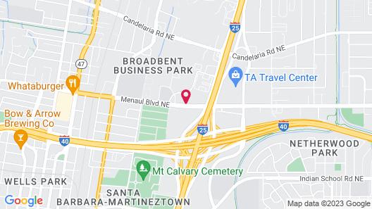 Quality Inn & Suites Albuquerque Downtown - University Map