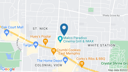 DoubleTree by Hilton Hotel Memphis Map