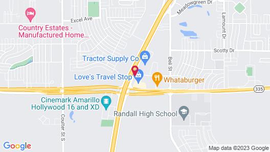 Motel 6 Amarillo, TX Map