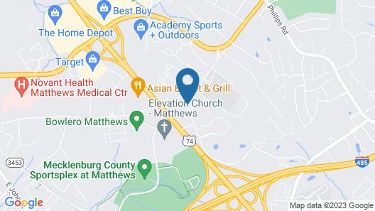 Econo Lodge Inn & Suites Matthews - Charlotte Map