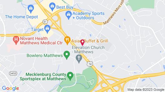 Microtel Inn by Wyndham Matthews/Charlotte Map