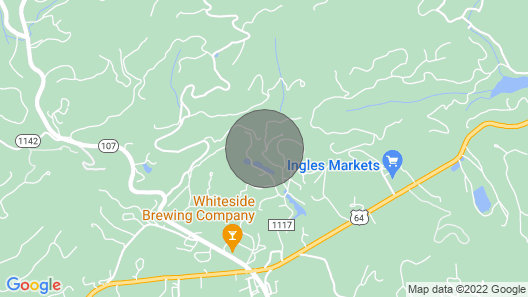 Private Creek Side Cottage With Waterfall Within Walking Distance of Cashiers Map