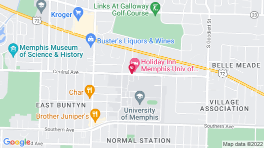 Holiday Inn University of Memphis All Suite, an IHG Hotel Map