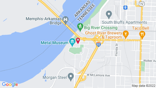 Super 8 by Wyndham Memphis/Dwtn/Graceland Area Map