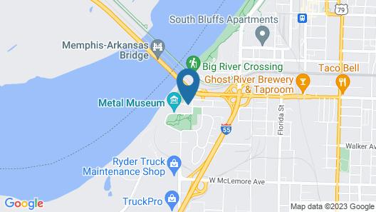Super 8 by Wyndham Memphis/Dwtn/Graceland Area Map