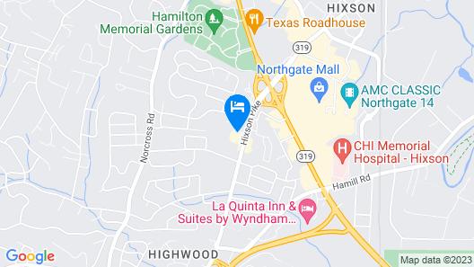 Quality Inn Hixson-Chattanooga Map