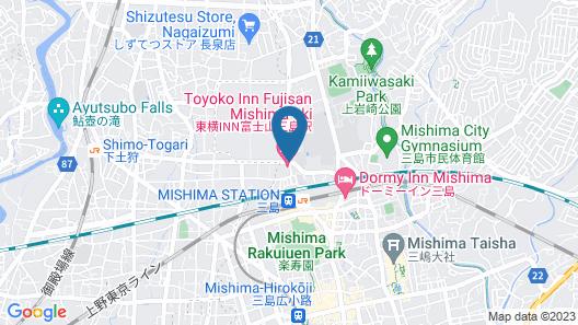 Toyoko Inn Fujisan Mishima-eki Map