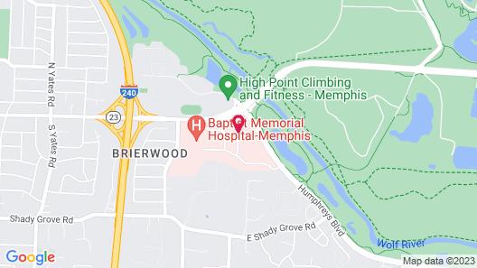 Hampton Inn Memphis-Walnut Grove/Baptist East Map
