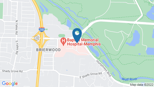 Hampton Inn Memphis-Walnut Grove/Baptist East Map