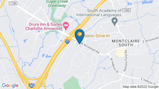 Candlewood Suites Charlotte - Arrowood, an IHG Hotel Map