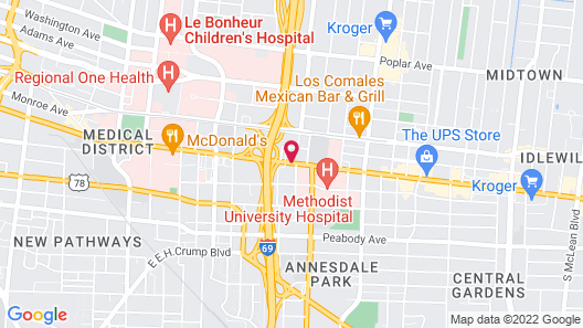 Holiday Inn Express Memphis Medical Center Midtown Map